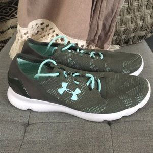 Under Armour sneakers. Army green &  turquoise